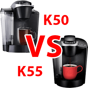 Keurig K50 VS K55 Compatison Featured Image