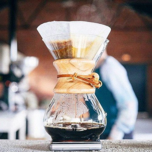 9 Best Pour Over Coffee Makers - Chemex Classic Series Pour-over Glass Coffeemaker