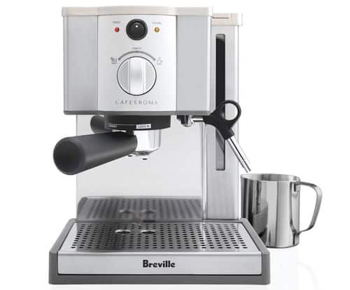 Best Espresso Machine Under $200 - Breville ESP8XL Cafe Roma Stainless Espresso Maker