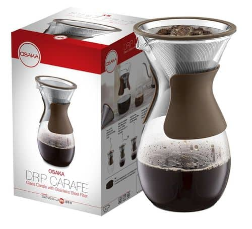 Best Pour Over Coffee Makers - Osaka Pour Over Coffee Maker with Reusable Stainless Steel Drip Filter