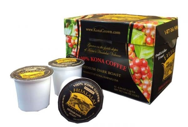 100 Kona Coffee Single Serve Cups By Hualalai Estate