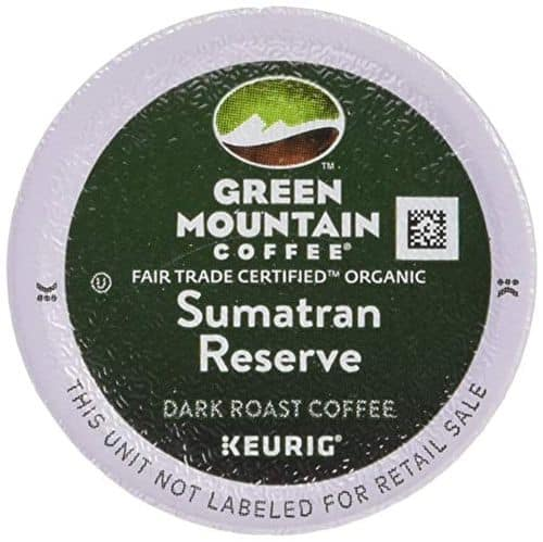 Green Mountain Coffee Fair Trade Organic Sumatran Reserve