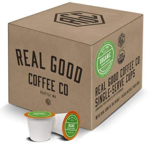 Real Good Coffee Co USDA Certified Organic Dark Roast Coffee K Cups