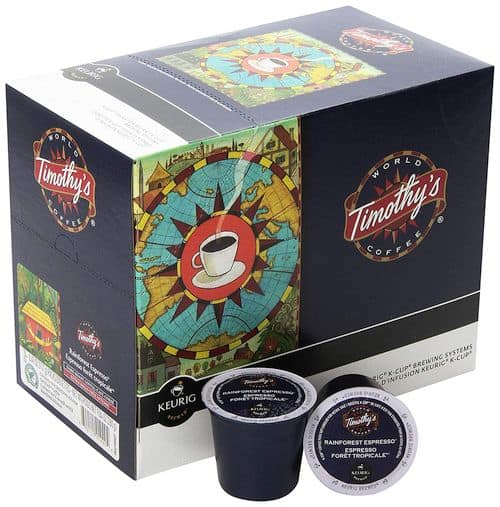 Timothys World Coffee Rainforest Espresso K-Cup