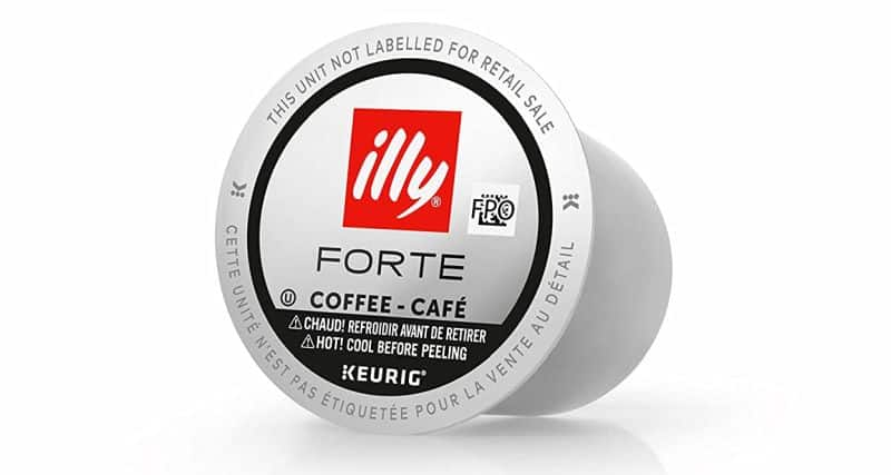 illy K-Cup Pods Forte Extra Dark Roast Coffee for Keurig Brewers