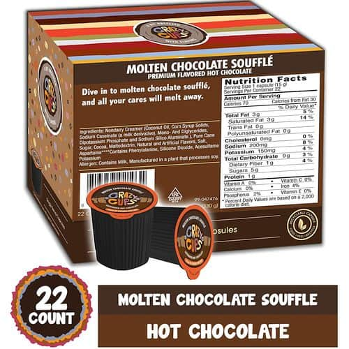 Crazy Cups Molten Chocolate Souffle Caffeinated Hot Chocolate