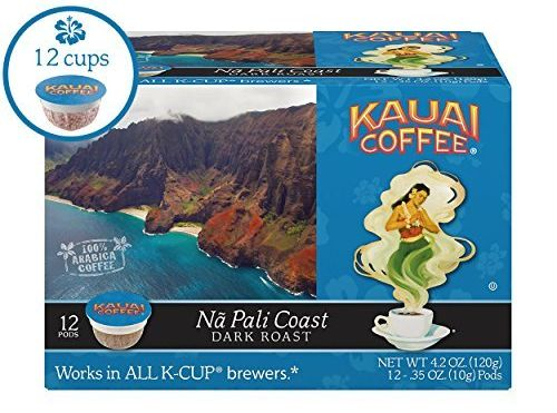 Kauai Coffee Single-serve Pods Na Pali Coast Dark Roast
