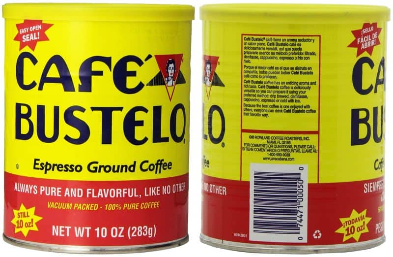 Cafe Bustelo Espresso Ground Coffee Packaging