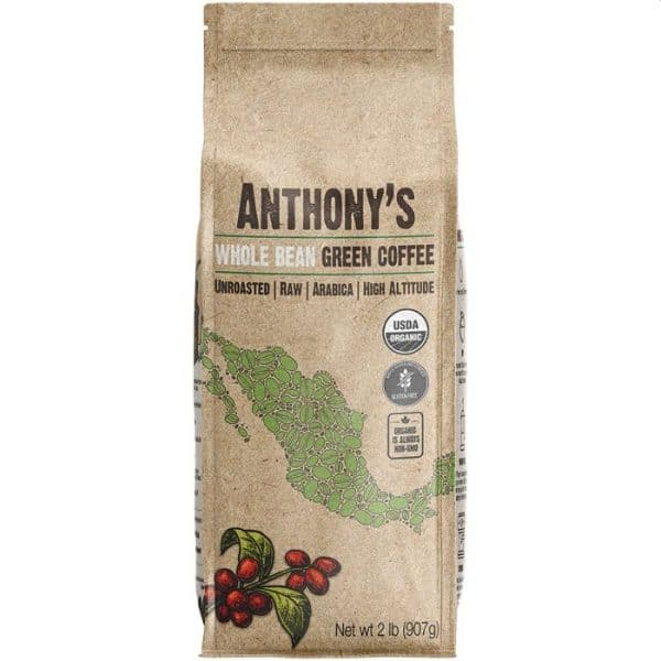 Anthonys Organic Unroasted Whole Green Coffee Beans