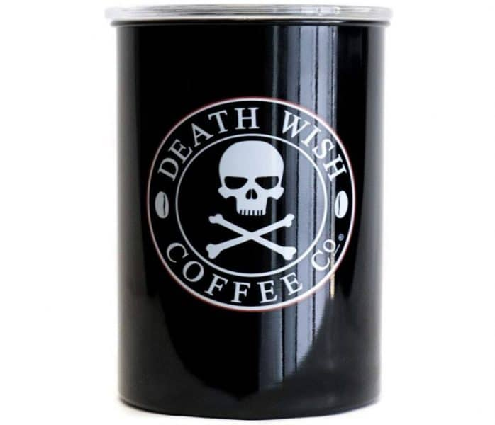 Death Wish Coffee Airtight Canister