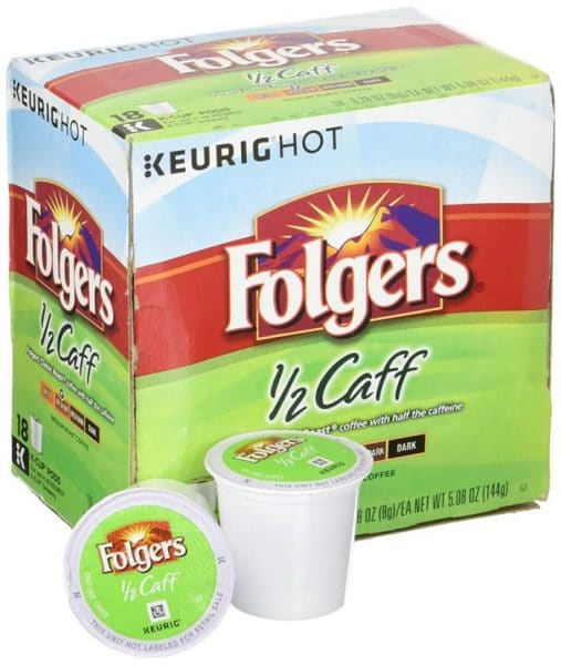 Folgers Half Caff K cups