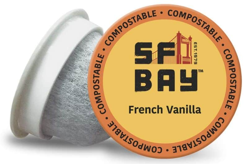SF Bay Coffee French Vanilla Flavored Compostable Coffee Pods