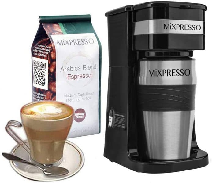 Mixpresso 2-In-1 Single Cup Coffee Maker